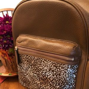 New Vera Bradley Calf Hair and leather backpack